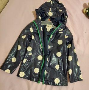 Adorable Polk-a-dot rain jacket!